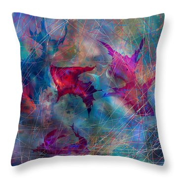 The Webs Of Life Throw Pillow by Rachel Christine Nowicki