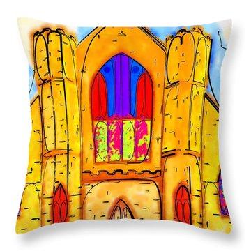 The Wedding Chapel Throw Pillow by Alec Drake