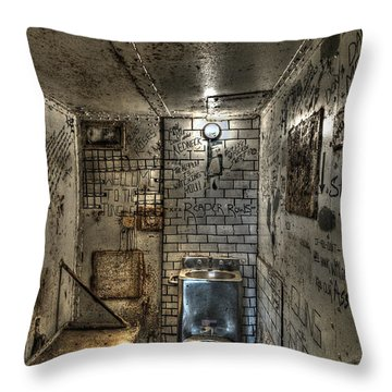 The West Virginia State Penitentiary Cell Throw Pillow by Dan Friend