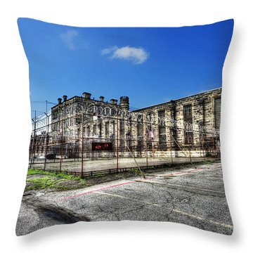 The West Virginia State Penitentiary Courtyard Outside Throw Pillow by Dan Friend