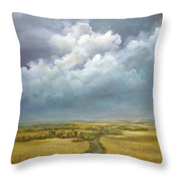 The Wheat Field Throw Pillow