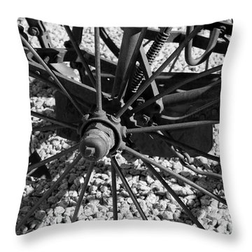 The Wheel Throw Pillow by Pamela Walrath