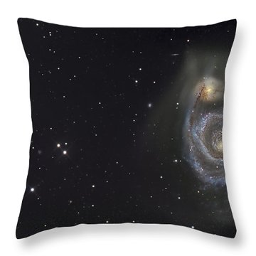 The Whirlpool Galaxy Throw Pillow by R Jay GaBany
