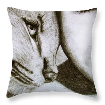 The Wild And The Innocent Throw Pillow by Ana Leko Nikolic