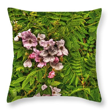 The Wild Rose Throw Pillow by William Fields