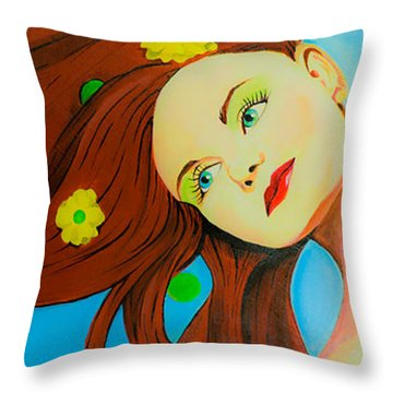 The Wind Blows A Kiss Throw Pillow by Chris  Leon
