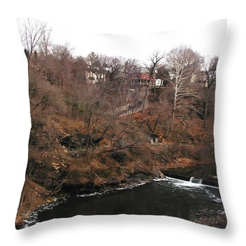 The Wissahickon At The Hundred Steps Throw Pillow