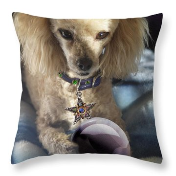 The Wizard Of Dogs Throw Pillow