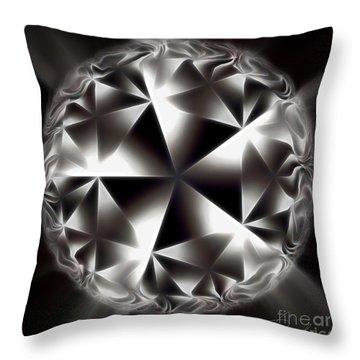 The World Of Alien Throw Pillow by Danuta Bennett