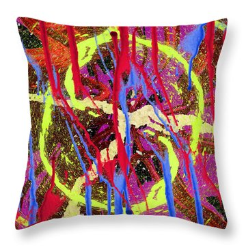 The Writing On The Wall 8 Throw Pillow by Tim Allen