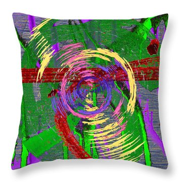 The Writing On The Wall 9 Throw Pillow by Tim Allen