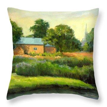 The Yellow Barn Throw Pillow