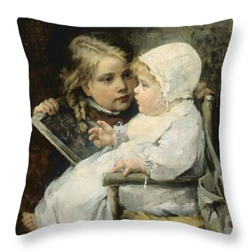 The Young Artist Throw Pillow by Ellen Kendall Baker