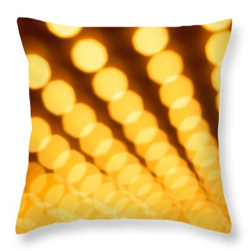 Theater Lights In Rows Defocused Throw Pillow