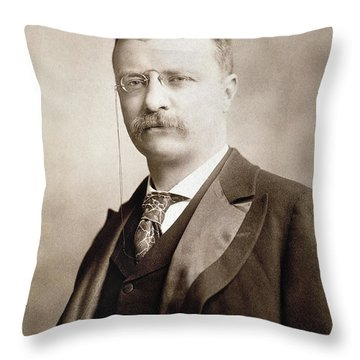 Thedore Roosevelt Throw Pillow by Granger