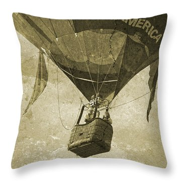 Their Faces Throw Pillow by Betsy Knapp