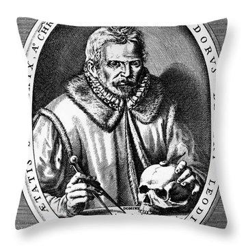 Theodor De Bry (1528-1598) Throw Pillow by Granger