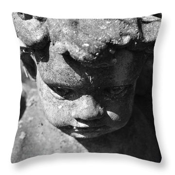 These Wings Are Heavy Throw Pillow by Luke Moore