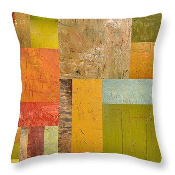 Thick Paint Abstract I Throw Pillow by Michelle Calkins