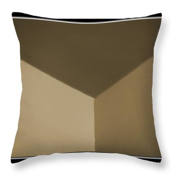 Think Outside Or Inside The Box    Optical Illusion Throw Pillow by Debbie Portwood