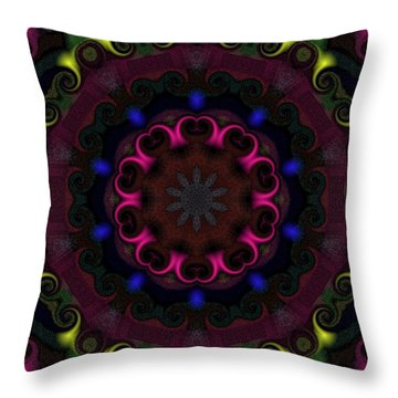 Throw Pillow featuring the digital art Think Pink by Alec Drake