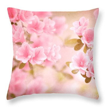 Think Spring Throw Pillow by Kim Fearheiley