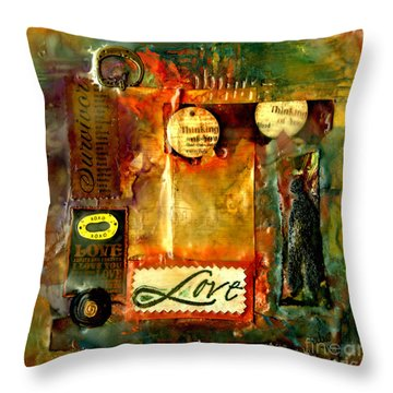 Thinking Of You With Love Throw Pillow by Angela L Walker