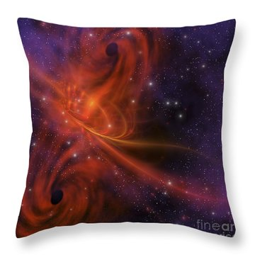 This Cosmic Phenomenon Is A Whirlwind Throw Pillow