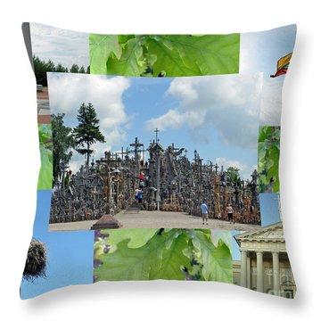 Throw Pillow featuring the photograph This Is Lietuva- Lithuania by Ausra Huntington nee Paulauskaite