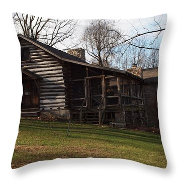 This Old Cabin Throw Pillow by Robert Margetts