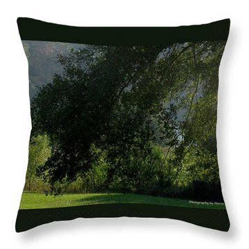 Throw Pillow featuring the photograph This Ole Tree by Maria Urso