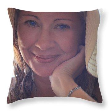This Smile Was For You Throw Pillow by Laurie Search