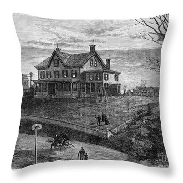 Thomas Edison Residence Throw Pillow by Granger