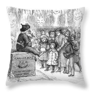 Thomas Nast: Christmas Throw Pillow by Granger