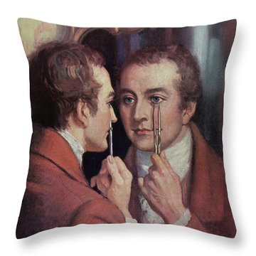 Thomas Young, English Polymath Throw Pillow by Science Source