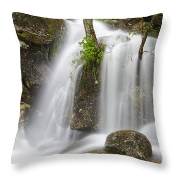 Thompson Falls - Pinkham Notch New Hampshire Usa Throw Pillow by Erin Paul Donovan