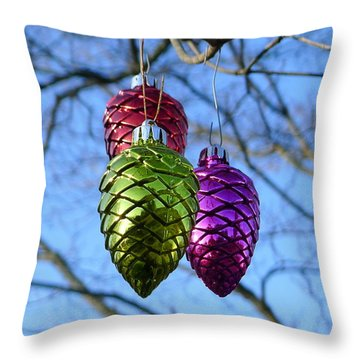 Throw Pillow featuring the photograph Three Cones by Richard Reeve