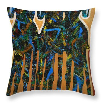 Three Drifters Throw Pillow by Lance Headlee
