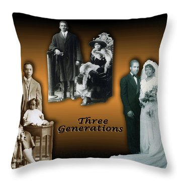 Three Generations Throw Pillow by Terry Wallace