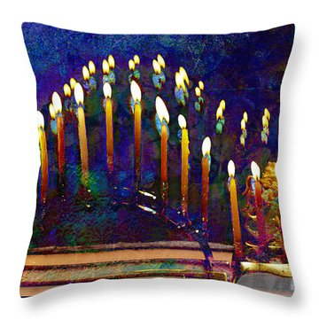 Three Menorahs Throw Pillow
