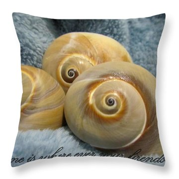 Throw Pillow featuring the photograph Three Of A Kind by Danielle  Parent