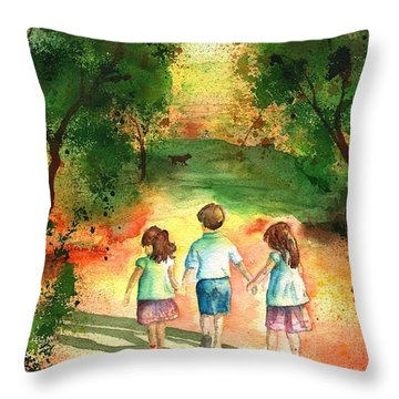 Three S Company Throw Pillow