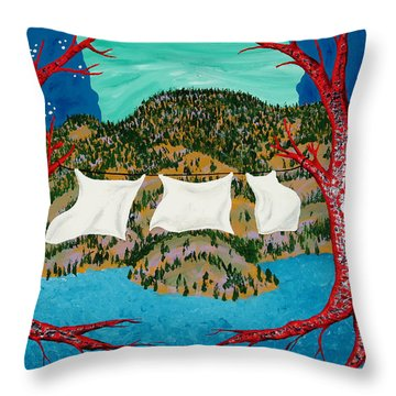 Three Sheets To The Wind Throw Pillow by Randall Weidner