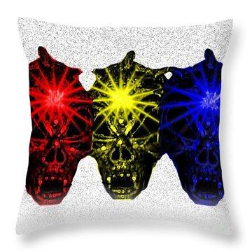 Throw Pillow featuring the photograph Three Skulls by Blair Stuart