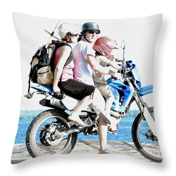 Throw Pillow featuring the photograph Three Up by Britt Runyon