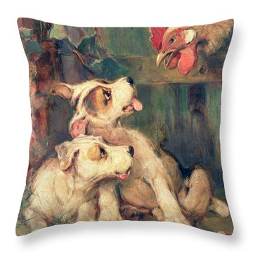 Three's A Crowd Throw Pillow by Philip Eustace Stretton