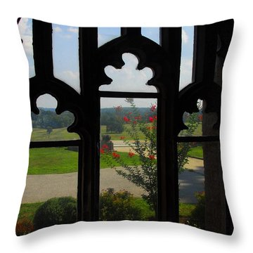 Through The Chapel Arches Throw Pillow by Cindy Manero