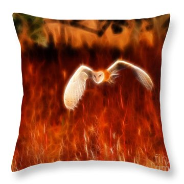 Through The Fire Throw Pillow by Beth Sargent