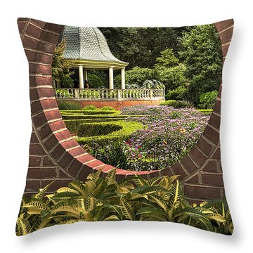 Through The Garden Wall Throw Pillow by William Fields