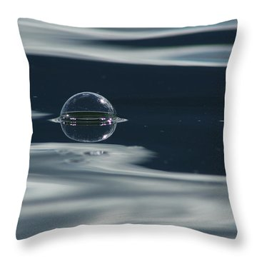 Through The Milky Way In My Spaceship Throw Pillow